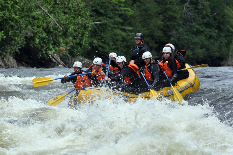 The 1st Rivorton Rovers going whitewater rafting.