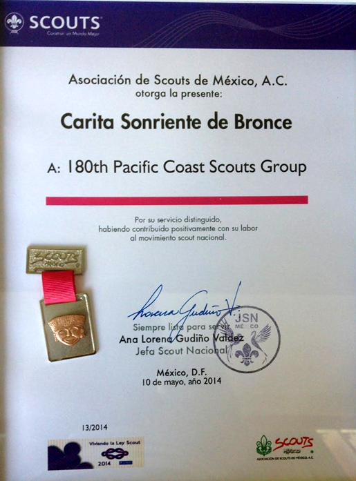 Bronze Smiling Face Certificate