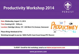 Productivity Workshop 2014
