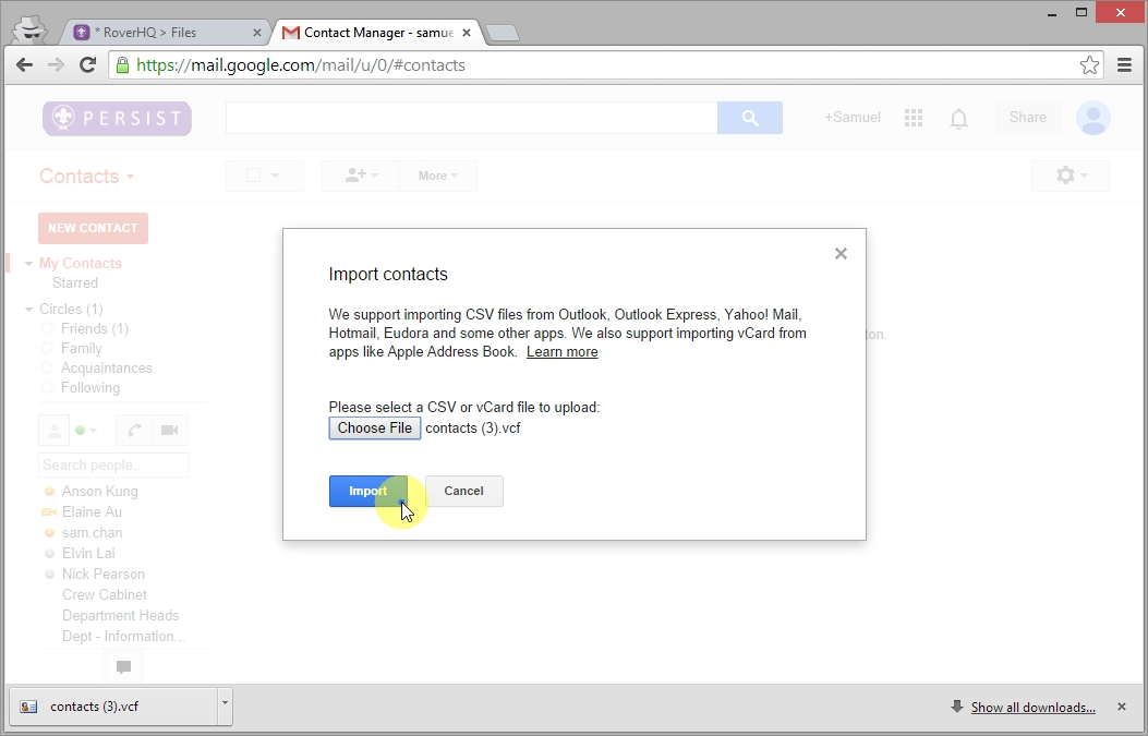 Import Contacts to Google_10