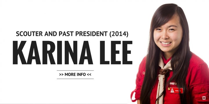 Karina Lee, Scouter and Past President (2014)