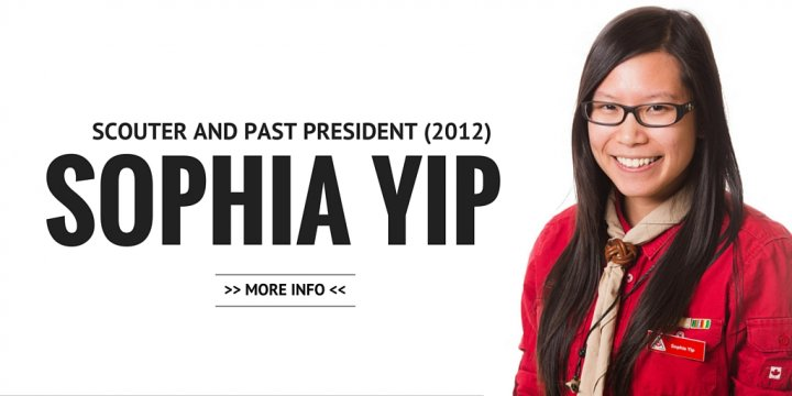 Sophia Yip, Scouter and Past President (2012)